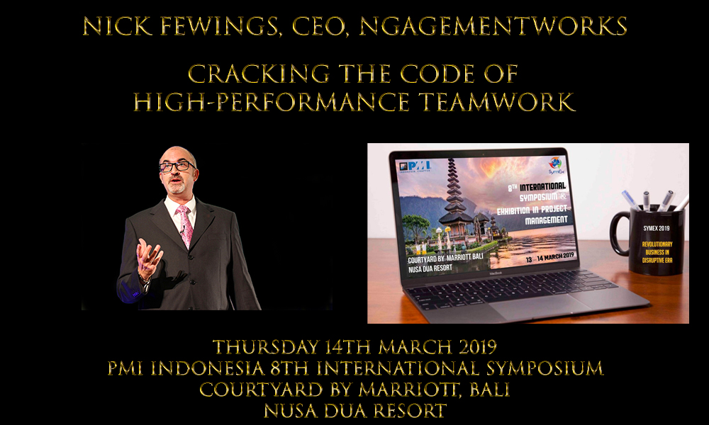 Nick Fewings Conference Speaker Project Management